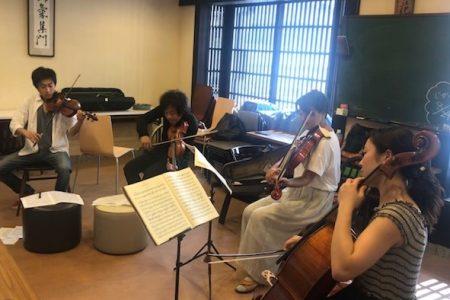 長浜フェスティバル弦楽四重奏 練習風景